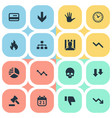 set of simple trouble icons vector image vector image
