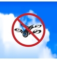 sign forbidding flight drone vector image vector image