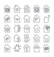 simple set of smart house related line icons vector image vector image