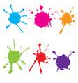 splatter color paint paint splashe set vector image