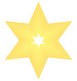 star icon golden star on blank background vector image vector image