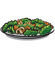 steamy boiled vegetables vector image vector image