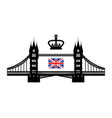 symbolizing the uk tower bridge royal crown and vector image