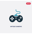 two color antique gamepad icon from technology vector image vector image