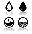 Water and drought vector image vector image