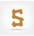 Wooden Boards Letter S vector image vector image