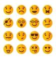 Flat Style Smile Emotion Icons Set vector image