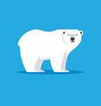 polar bear icon in flat style vector image