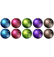 Bowling balls in different colors vector image