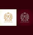 90 anniversary luxury logo vector image vector image