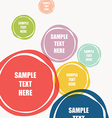 abstract colorful round shape text banner design vector image