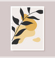 abstract contemporary flower minimal modern vector image vector image