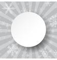 Abstract light grey Christmas card Christmas vector image vector image