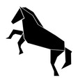 abstract low poly horse icon vector image