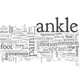 ankle sprain and pain