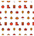 autumn icon seamless pattern vector image