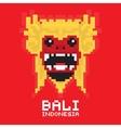 Bali traditional mask pixel art card vector image vector image