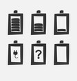 battery charge icons vector image