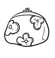 black and white coin purse vector image vector image