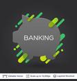black badge money box sticker vector image vector image