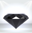 black diamond as chic stage podium with lighting vector image