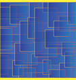 blue backdrop with squares color abstract pattern vector image
