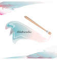 blue watercolor background and brush decoration vector image vector image