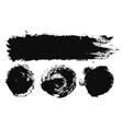 brush strokes paintbrushes set grunge vector image vector image