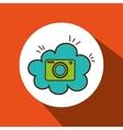camera photographic cloud icon vector image