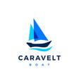 caravelt boat logo icon vector image