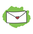 Cartoon doodle love letter vector image