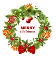 Christmas Berry Branches Wreath vector image vector image