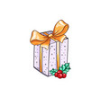 christmas or new year gift box vector image vector image