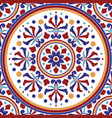 colorful decorative tile pattern vector image vector image