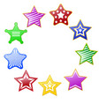 colorful stars circle vector image vector image
