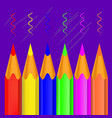 colorful wooden crayons pencils vector image vector image