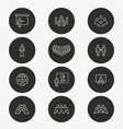 conference icon set round button vector image vector image