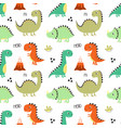 cute dino seamless pattern vector image vector image