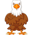 Cute eagle cartoon posing isolated vector image vector image