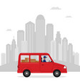 delivery order car vector image