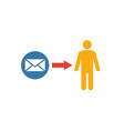 direct message icon flat creative element from vector image vector image