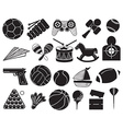 Doodle design of the different toys vector image