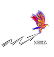 eagle and arrow vector image vector image