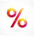 fiery percentage sign concept vector image vector image