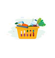 fresh food in shopping cart vector image vector image