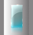 glass transparent banner glass plates with vector image vector image