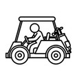 golf car with driver isolated icon vector image vector image