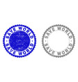 grunge save world scratched stamps vector image vector image