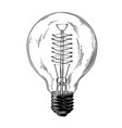hand drawn sketch of lightbulb in black isolated vector image vector image