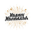 happy hanukkah greeting card or banner jewish vector image